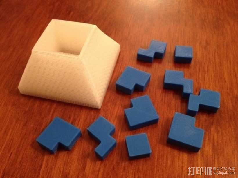 立方体拼图方块 3D模型  图1