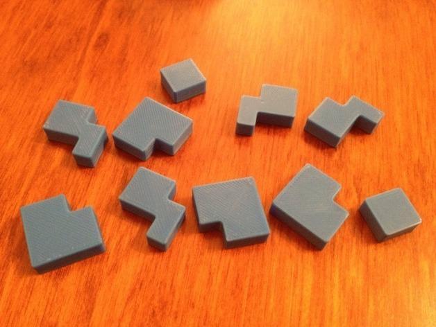 立方体拼图方块 3D模型  图4