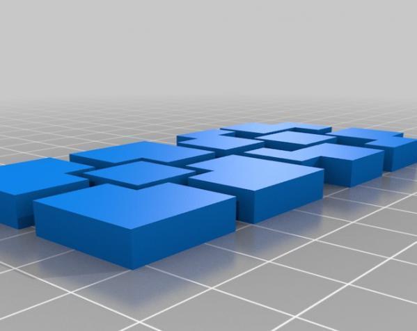 立方体拼图方块 3D模型  图6