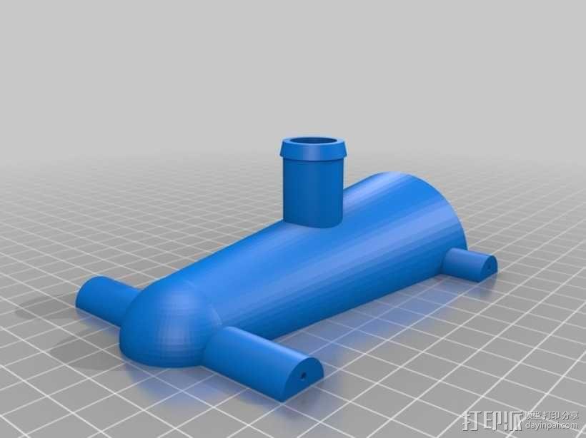气球驱动汽车 3D模型  图2
