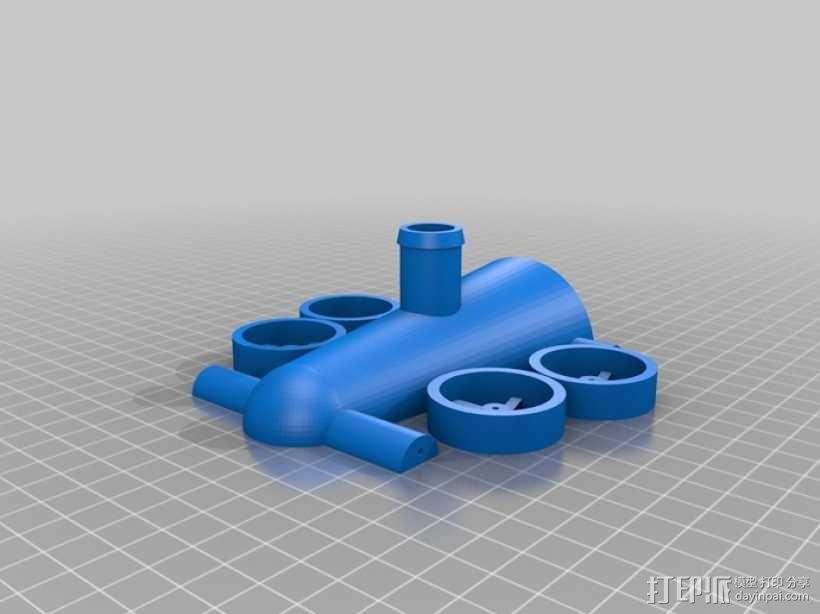 气球驱动汽车 3D模型  图3