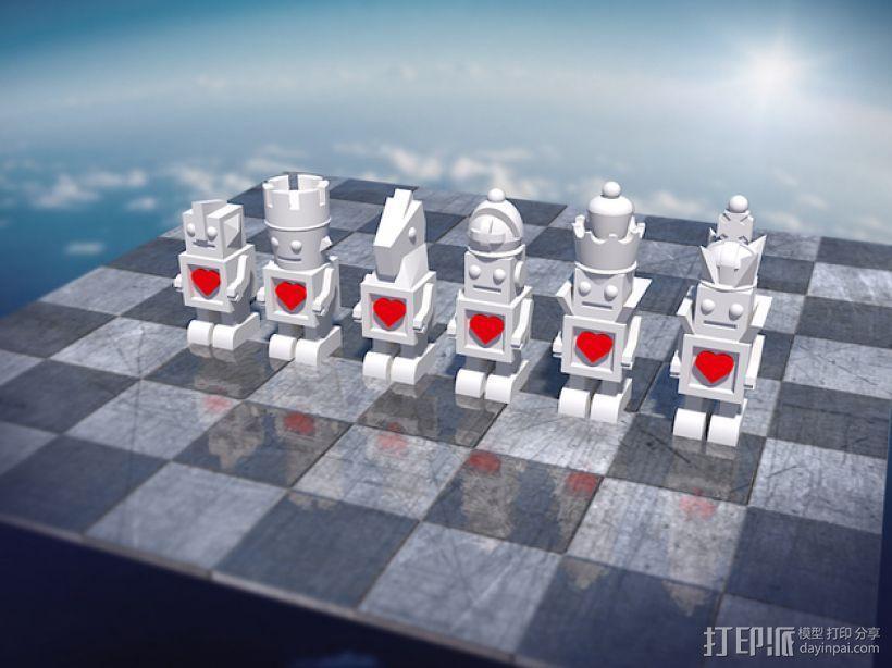 机器人形象棋 3D模型  图2