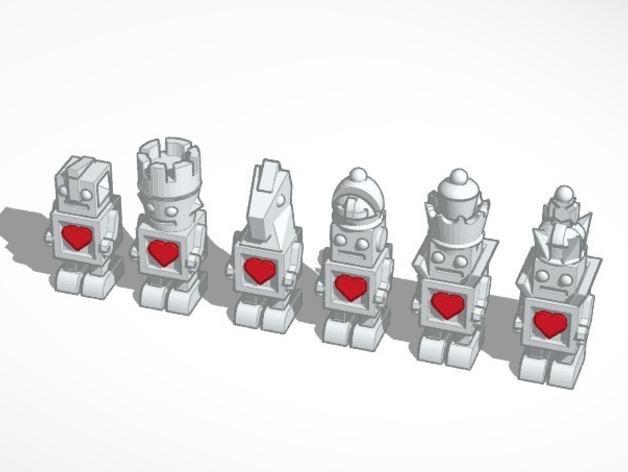 机器人形象棋 3D模型  图1