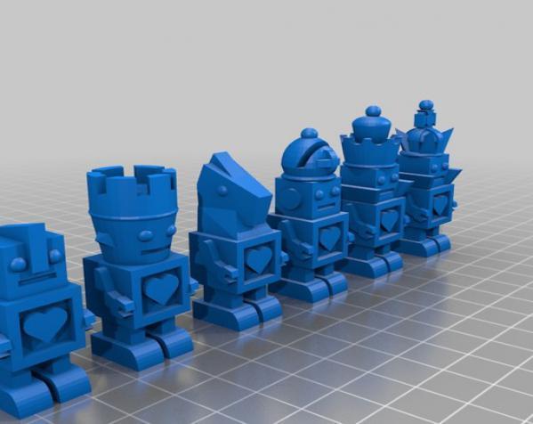 机器人形象棋 3D模型  图3