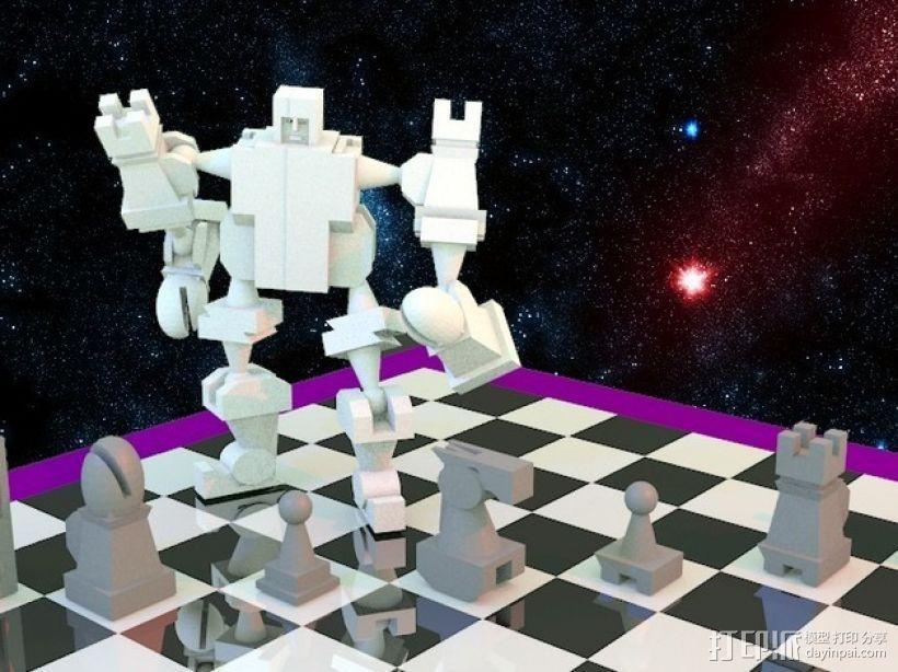 战斗型象棋 3D模型  图1