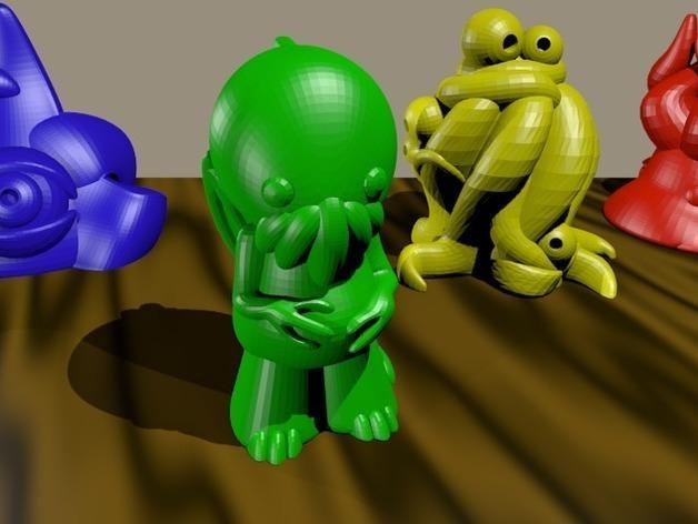 Lovecraft棋子 3D模型  图2
