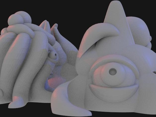 Lovecraft棋子 3D模型  图9