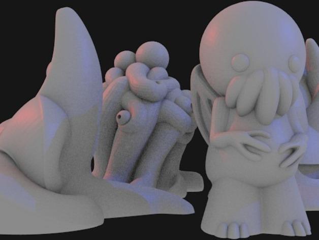 Lovecraft棋子 3D模型  图8