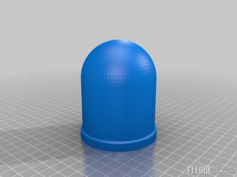 骰盅 3D模型  图1