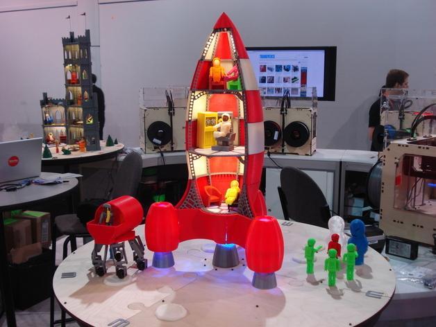 火箭玩具 3D模型  图1