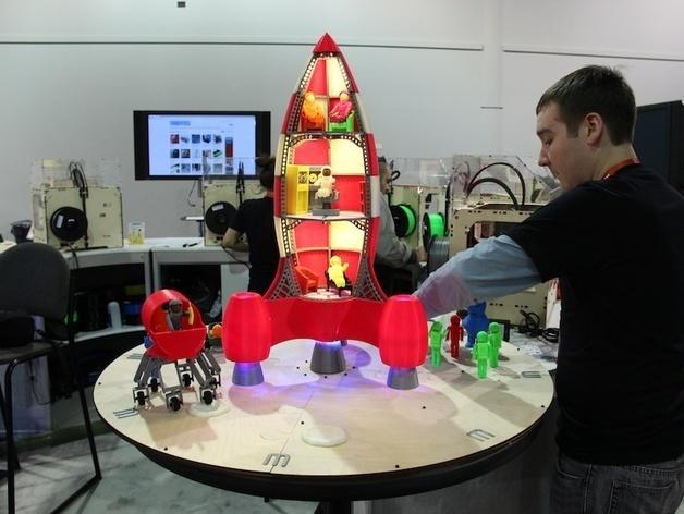 火箭玩具 3D模型  图4