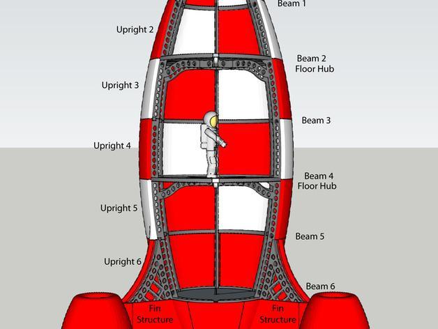 火箭玩具 3D模型  图10
