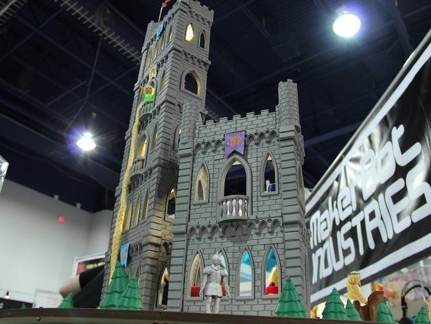 城堡模型 3D模型  图1