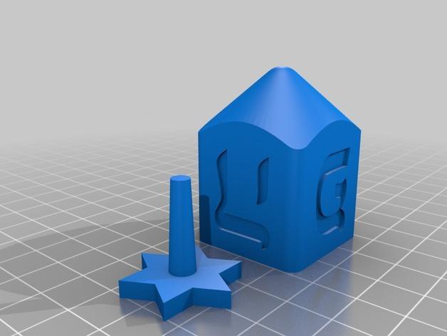 四面陀螺 3D模型  图2