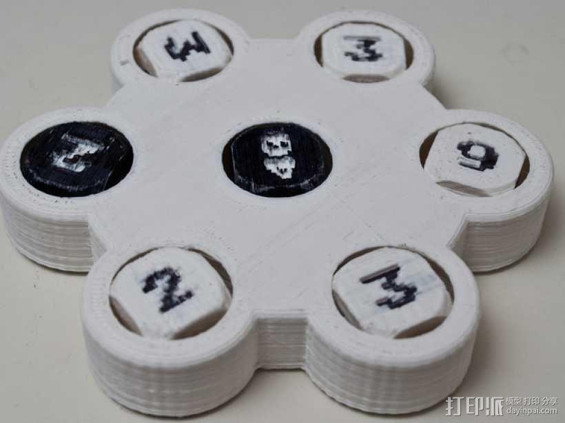 骰子游戏 3D模型  图2