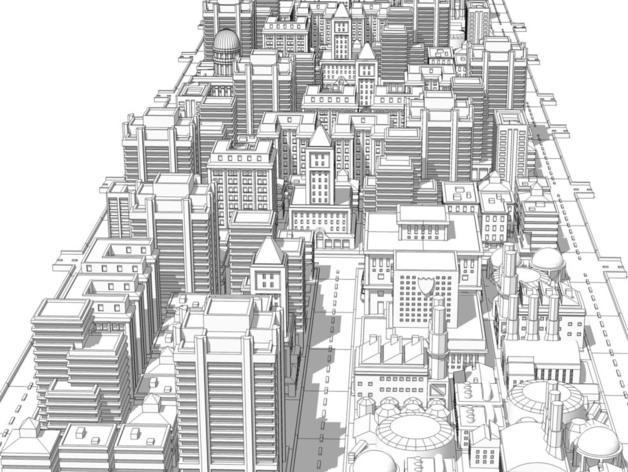 《模拟城市2000》游戏模型 3D模型  图18
