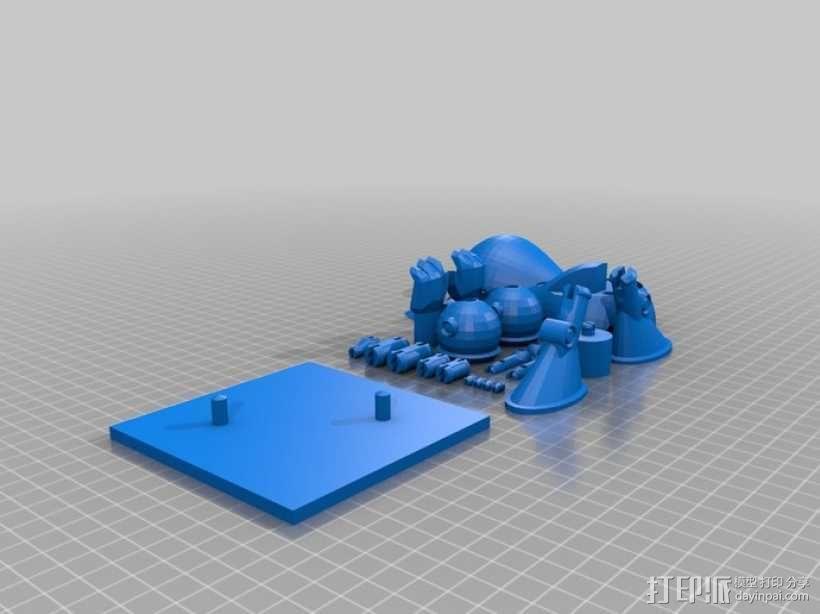 曼波机器人 3D模型  图1