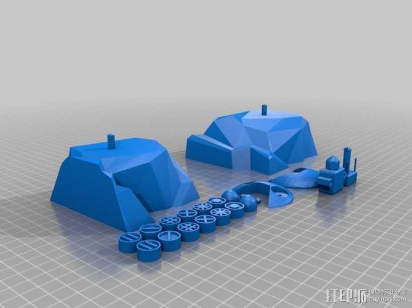 曼波机器人 3D模型  图2