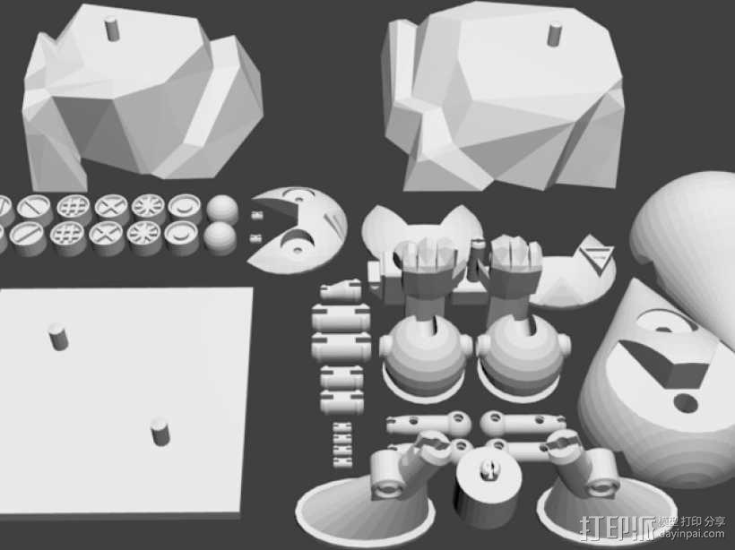 曼波机器人 3D模型  图4