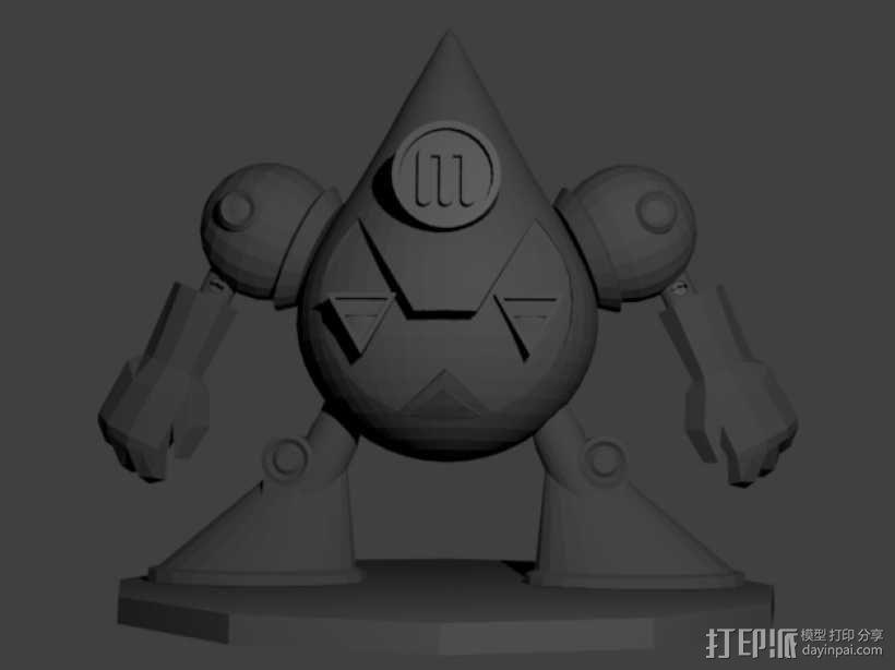 曼波机器人 3D模型  图3