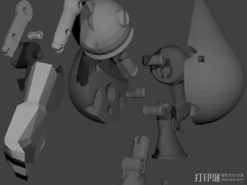 曼波机器人 3D模型  图6