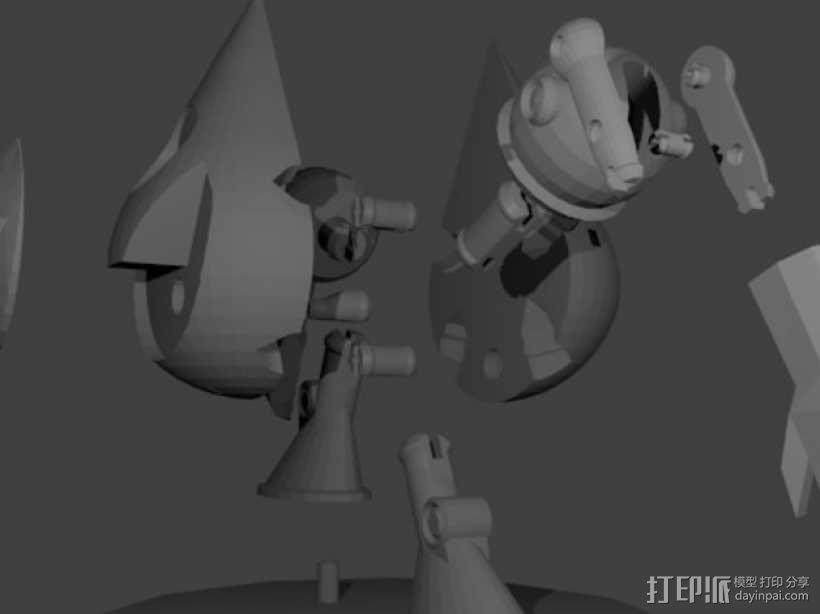 曼波机器人 3D模型  图5