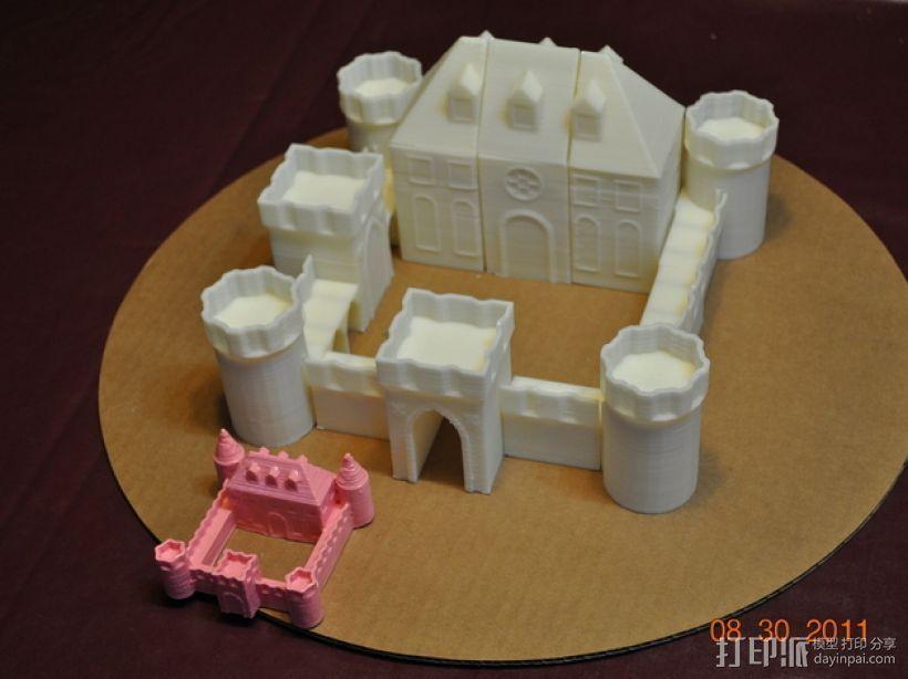 城堡模块玩具 3D模型  图1