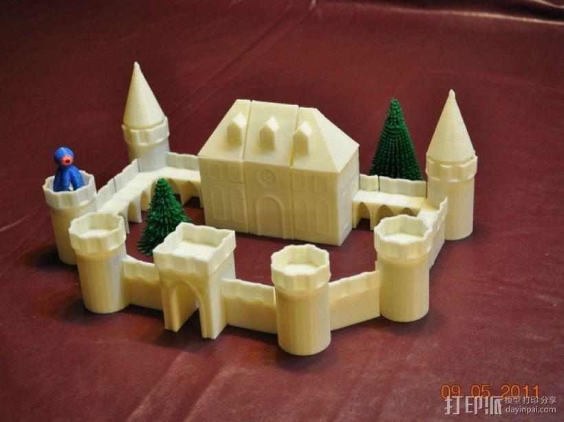 城堡模块玩具 3D模型  图2