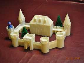 城堡模块玩具 3D模型