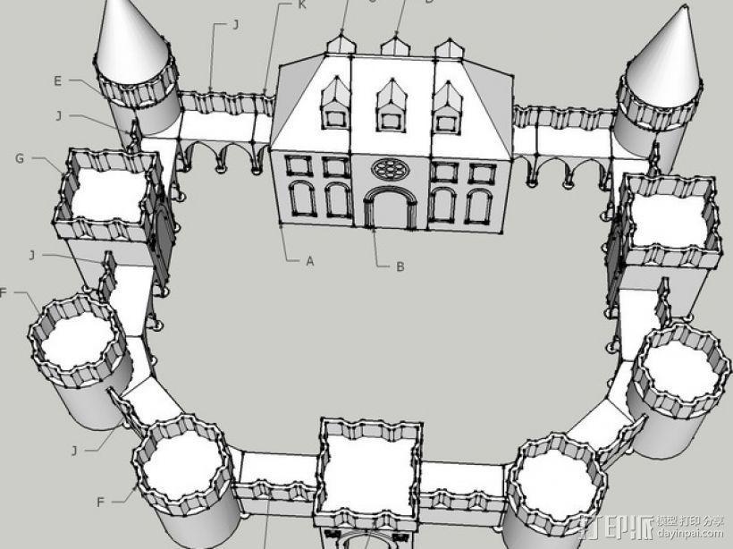 城堡模块玩具 3D模型  图4