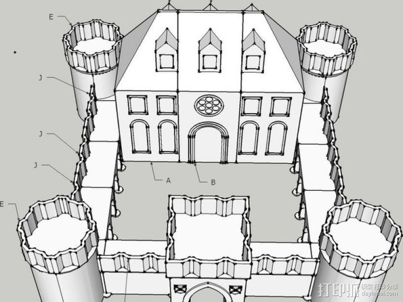 城堡模块玩具 3D模型  图3