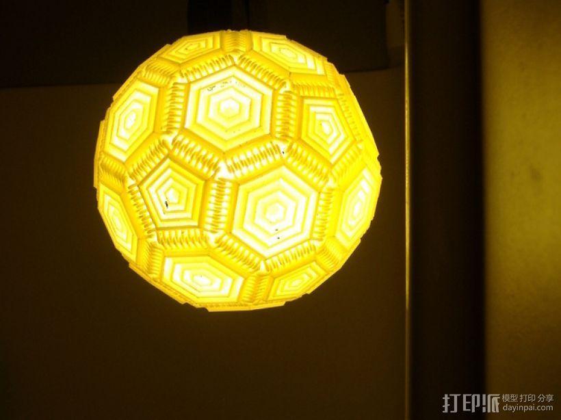 巴基球形灯泡 3D模型  图4