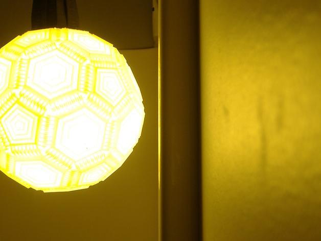 巴基球形灯泡 3D模型  图3