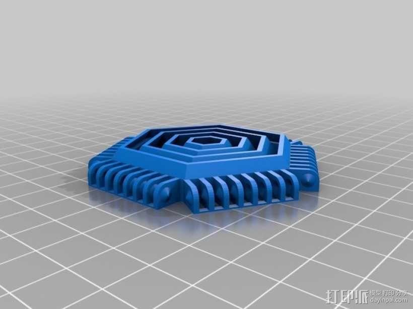巴基球形灯泡 3D模型  图7