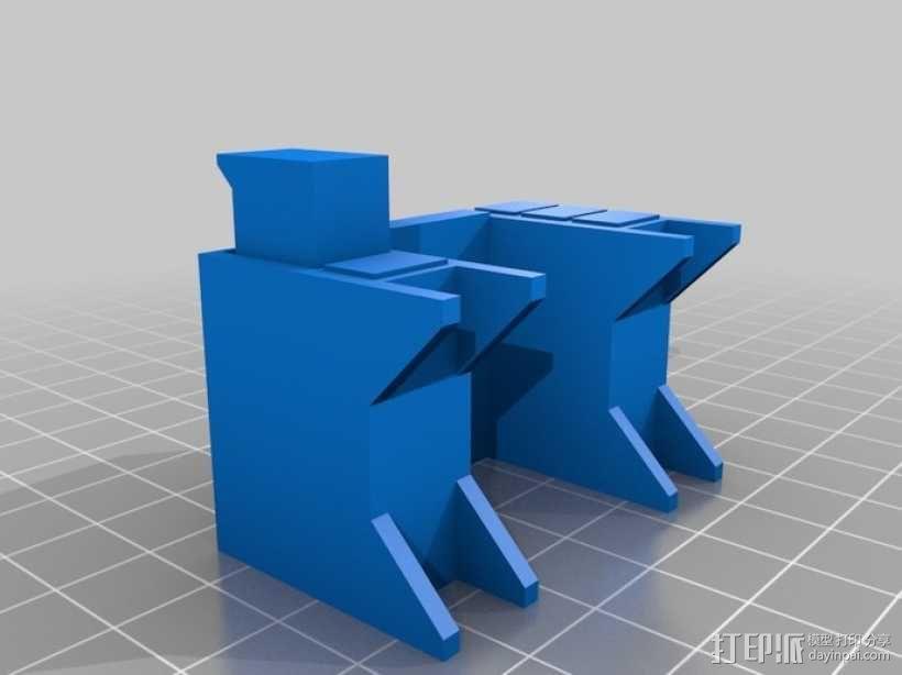 迷你隔间办公室 3D模型  图1