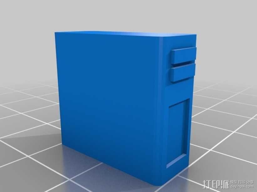 迷你隔间办公室 3D模型  图2