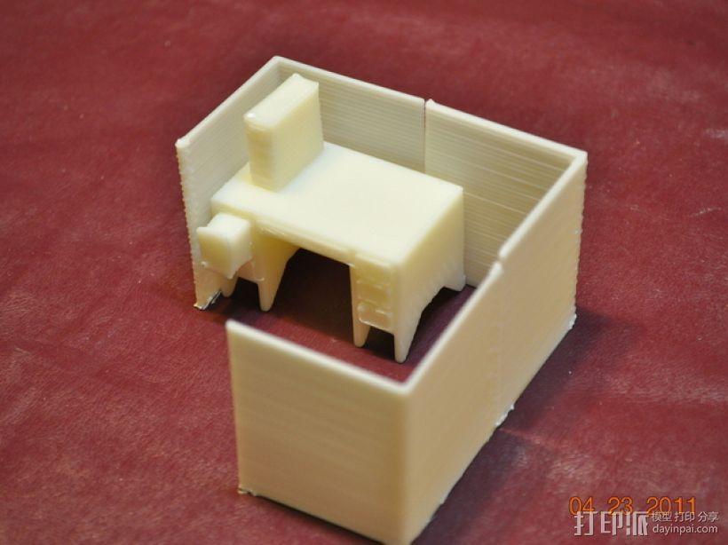 迷你隔间办公室 3D模型  图5