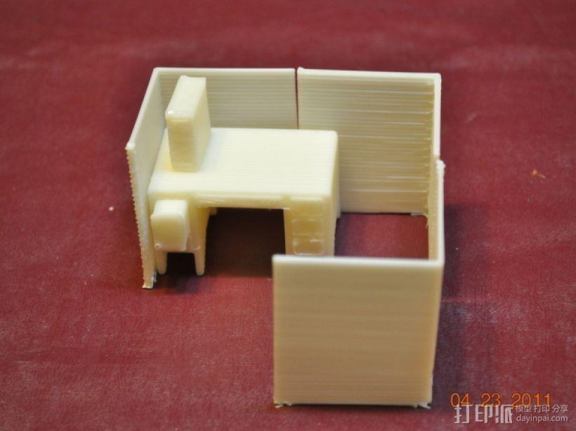 迷你隔间办公室 3D模型  图6