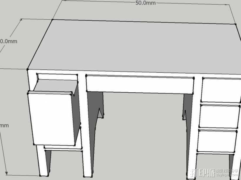 迷你隔间办公室 3D模型  图7