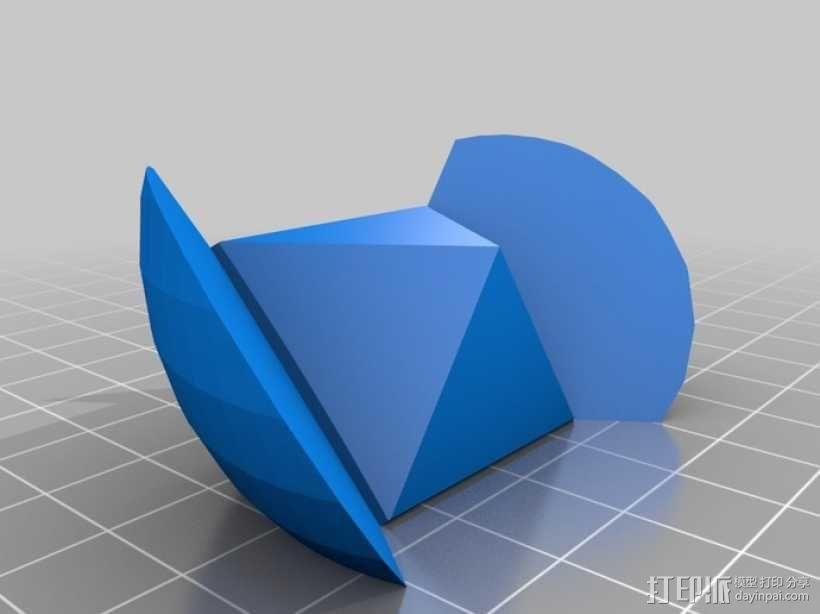球体拼图 3D模型  图3