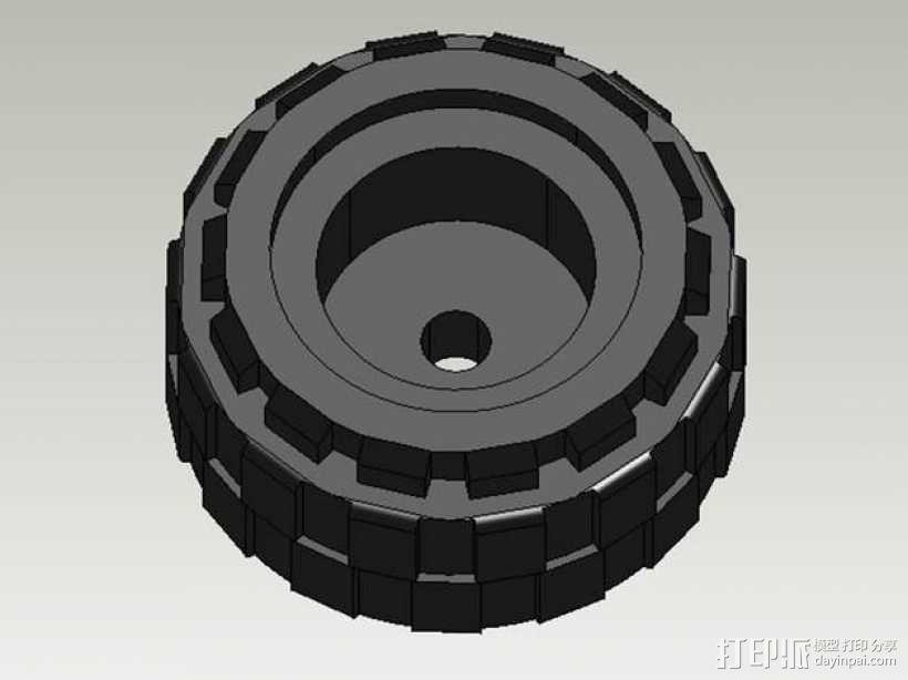 乐高轮胎 3D模型  图1