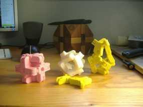 迷你组装多面体 3D模型