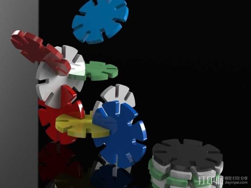 带插槽方块 3D模型  图1