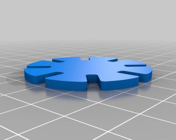 带插槽方块 3D模型  图3