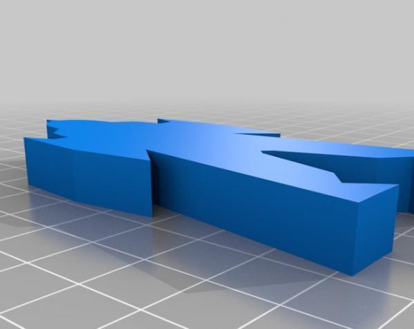 带卡槽机器人 3D模型  图1