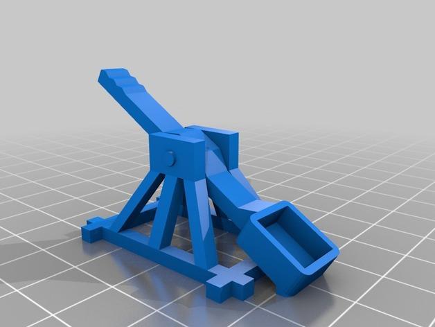 桌面式弹射器 3D模型  图2