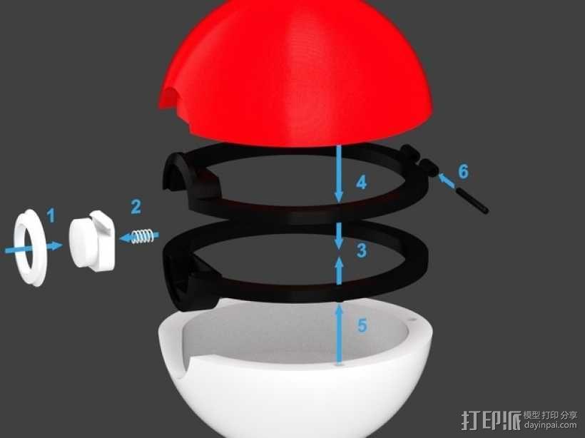 神奇宝贝球 3D模型  图3