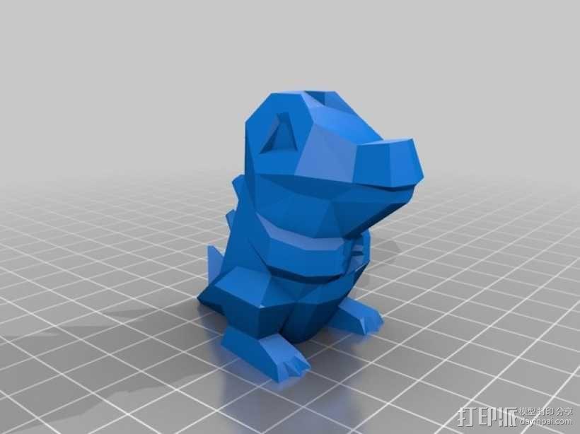 小锯鳄 3D模型  图2