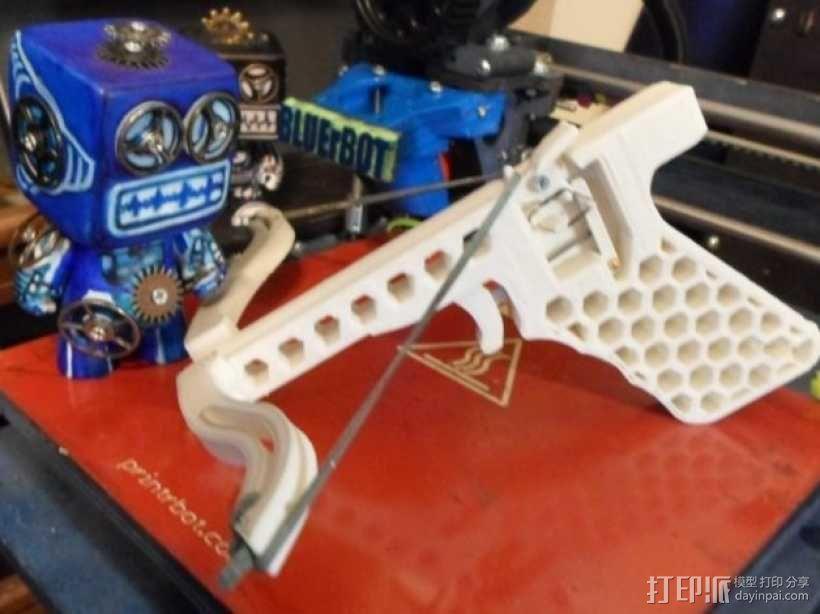 皮筋驱动十字弓 3D模型  图2