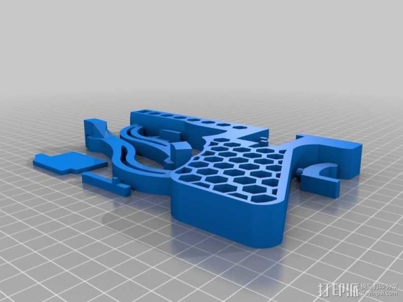 皮筋驱动十字弓 3D模型  图3